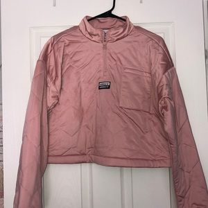 Adidas Cropped Satin Pullover